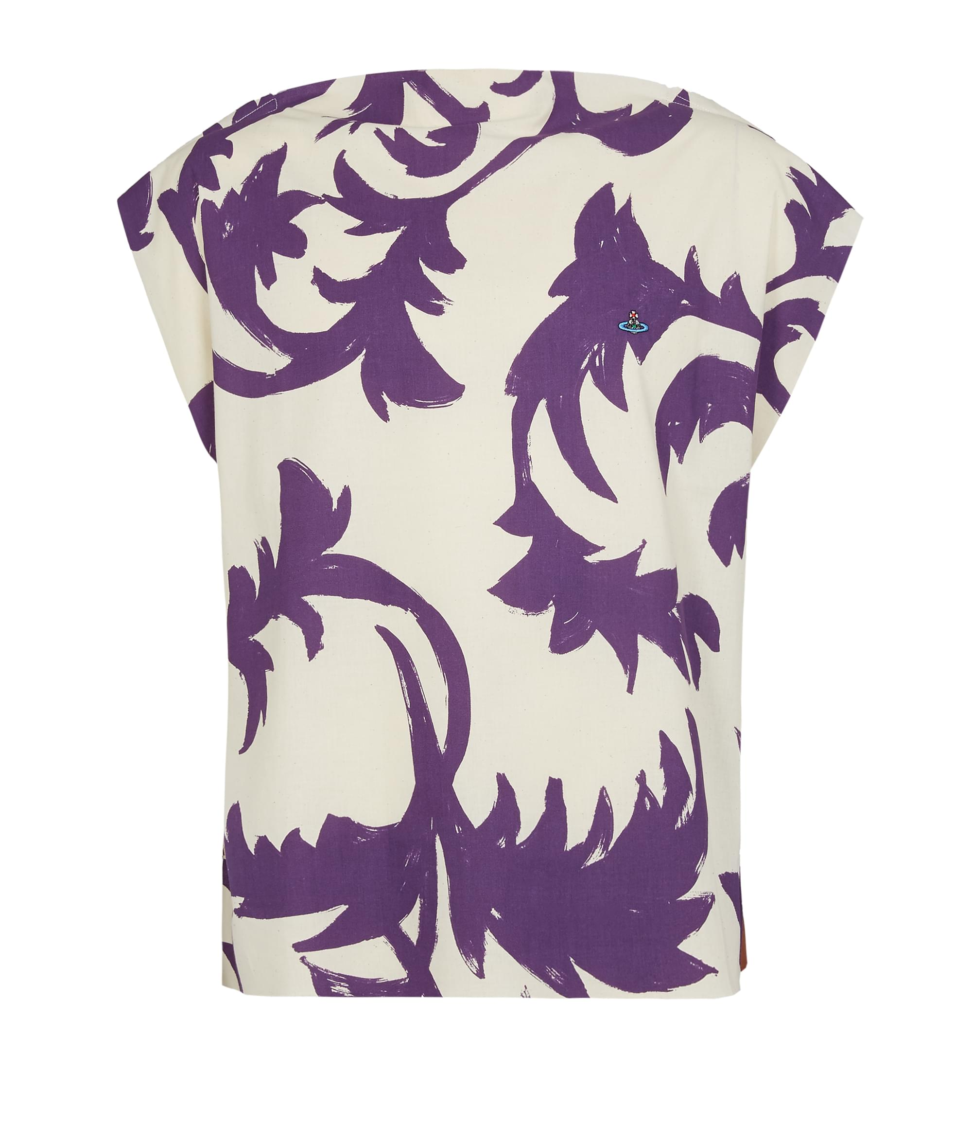 Vivienne Westwood Square T-Shirt Purple Leaves\/Tobacco Jersey