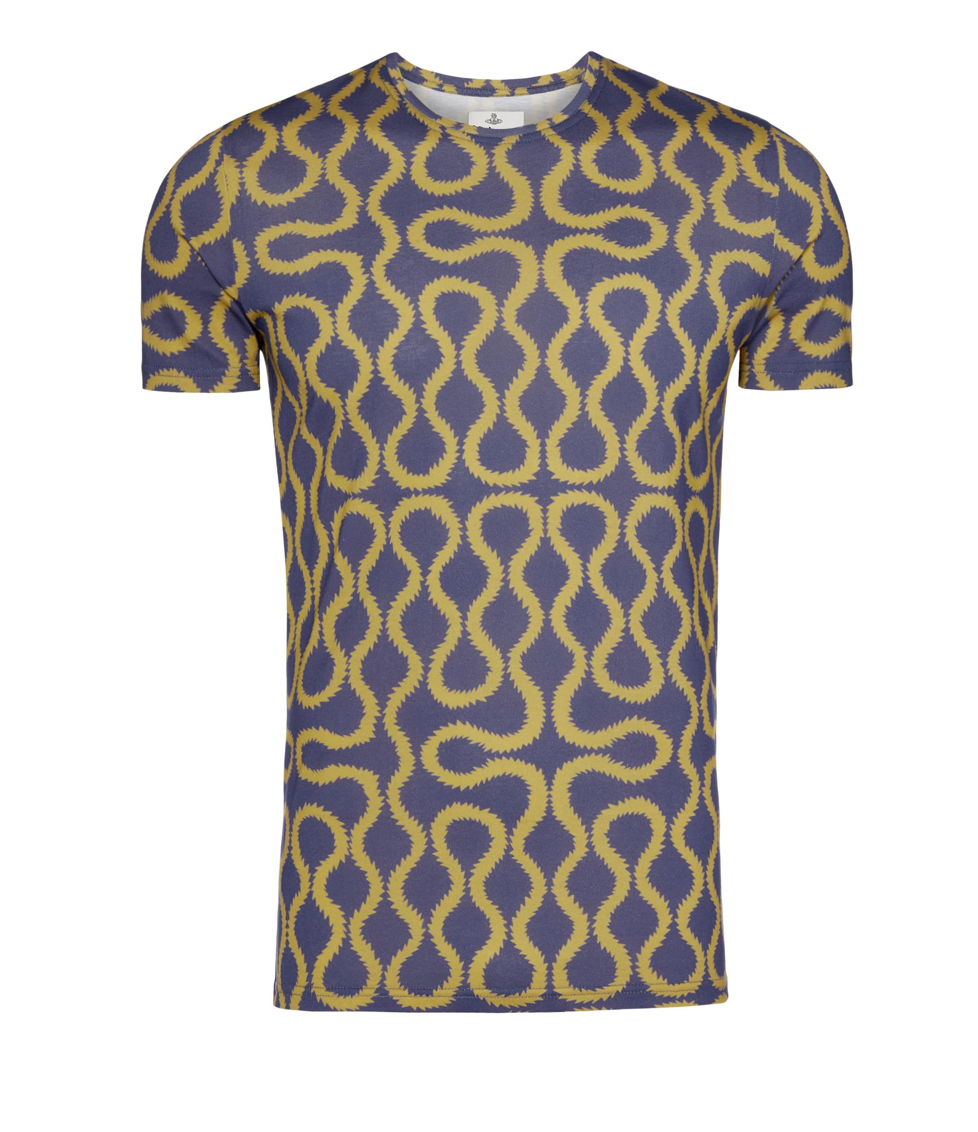Vivienne Westwood Squiggle T-Shirt Gold\/Blue