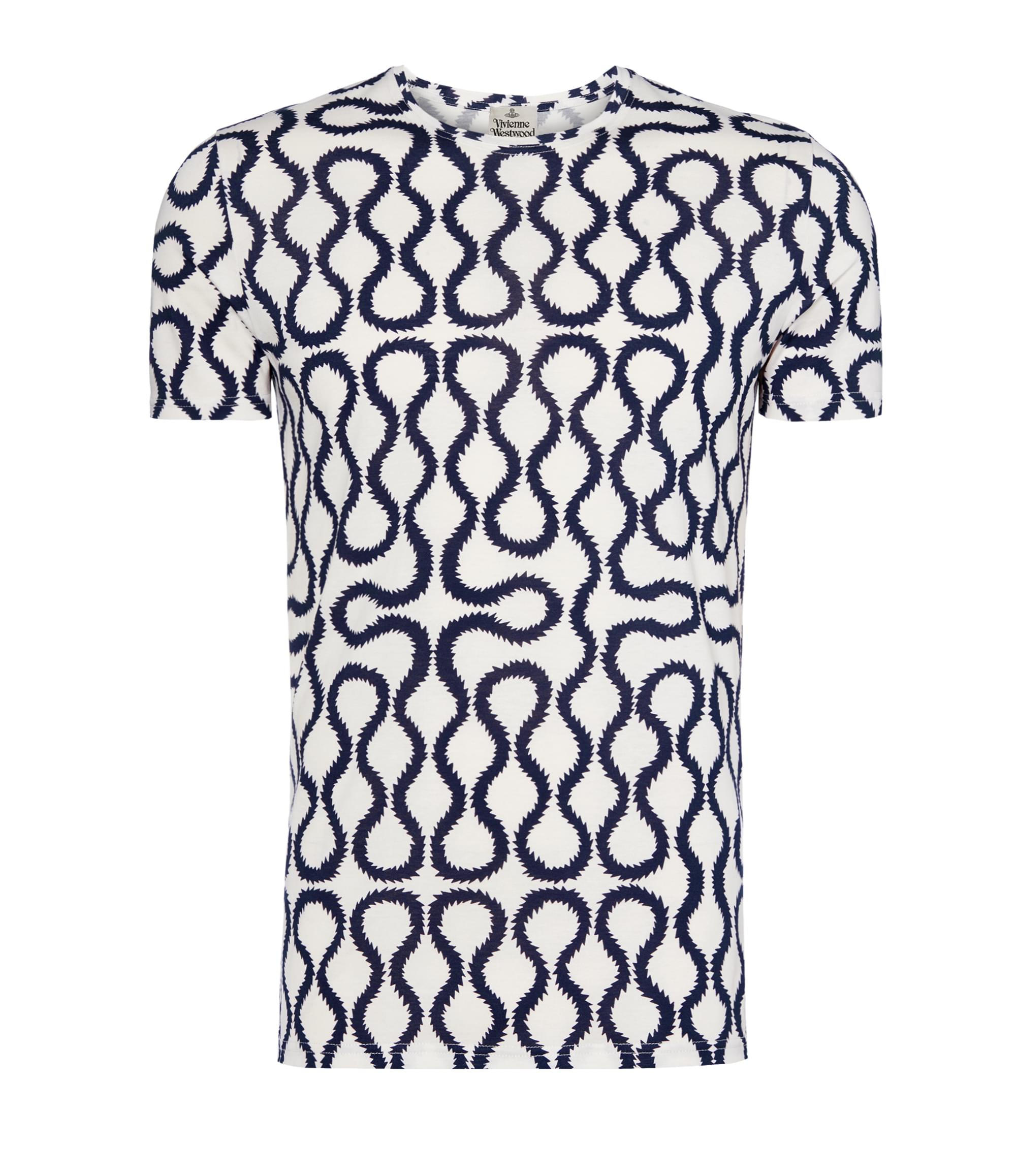 Vivienne Westwood Squiggle T-Shirt White\/Blue