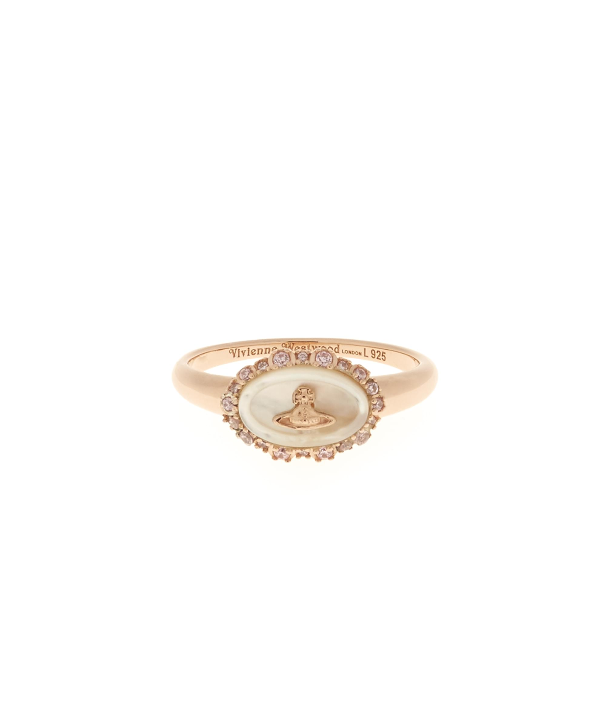 Vivienne Westwood Sterling Silver Maja Ring Pink Gold