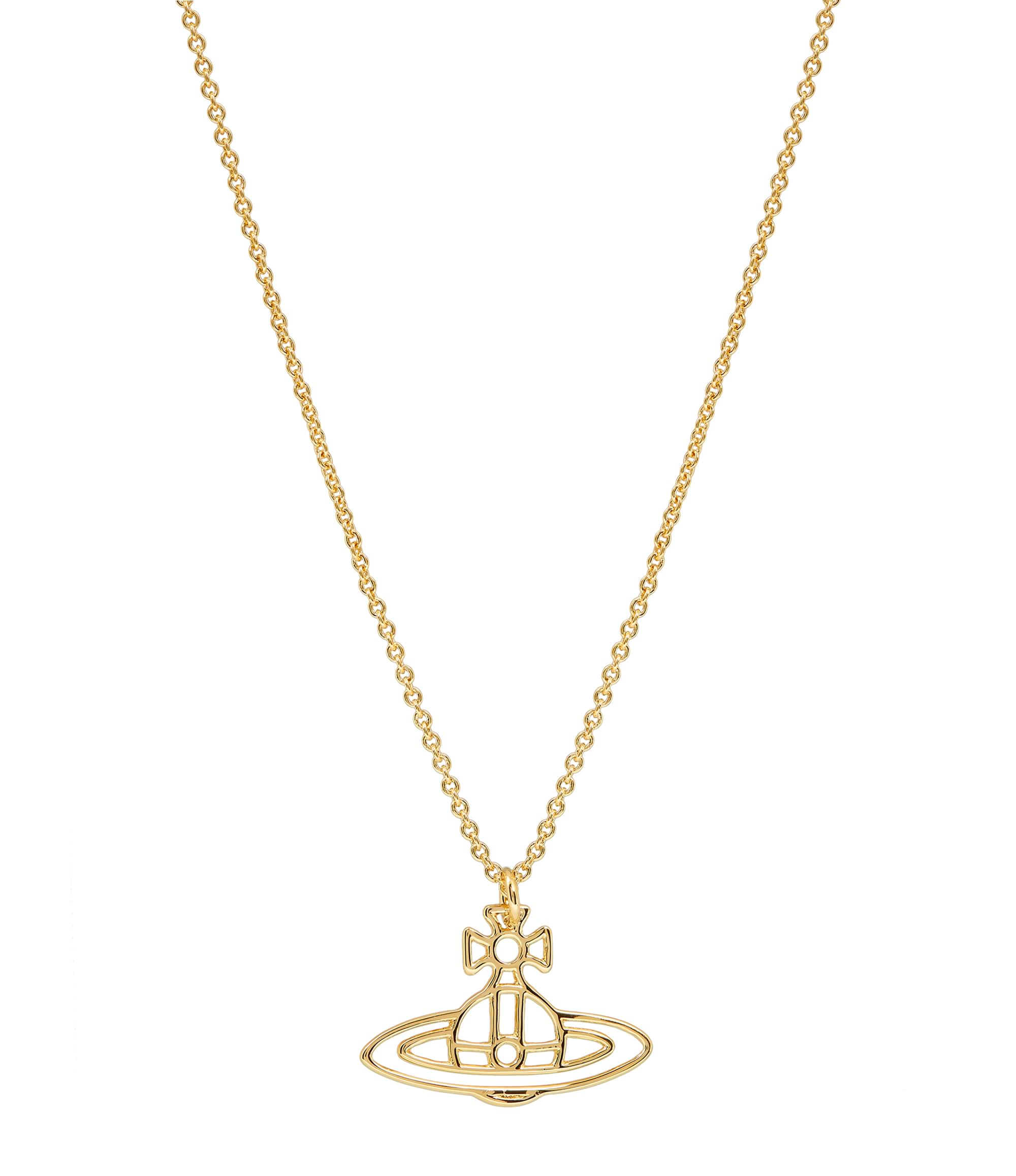Vivienne Westwood Thin Lines Orb Pendant Gold