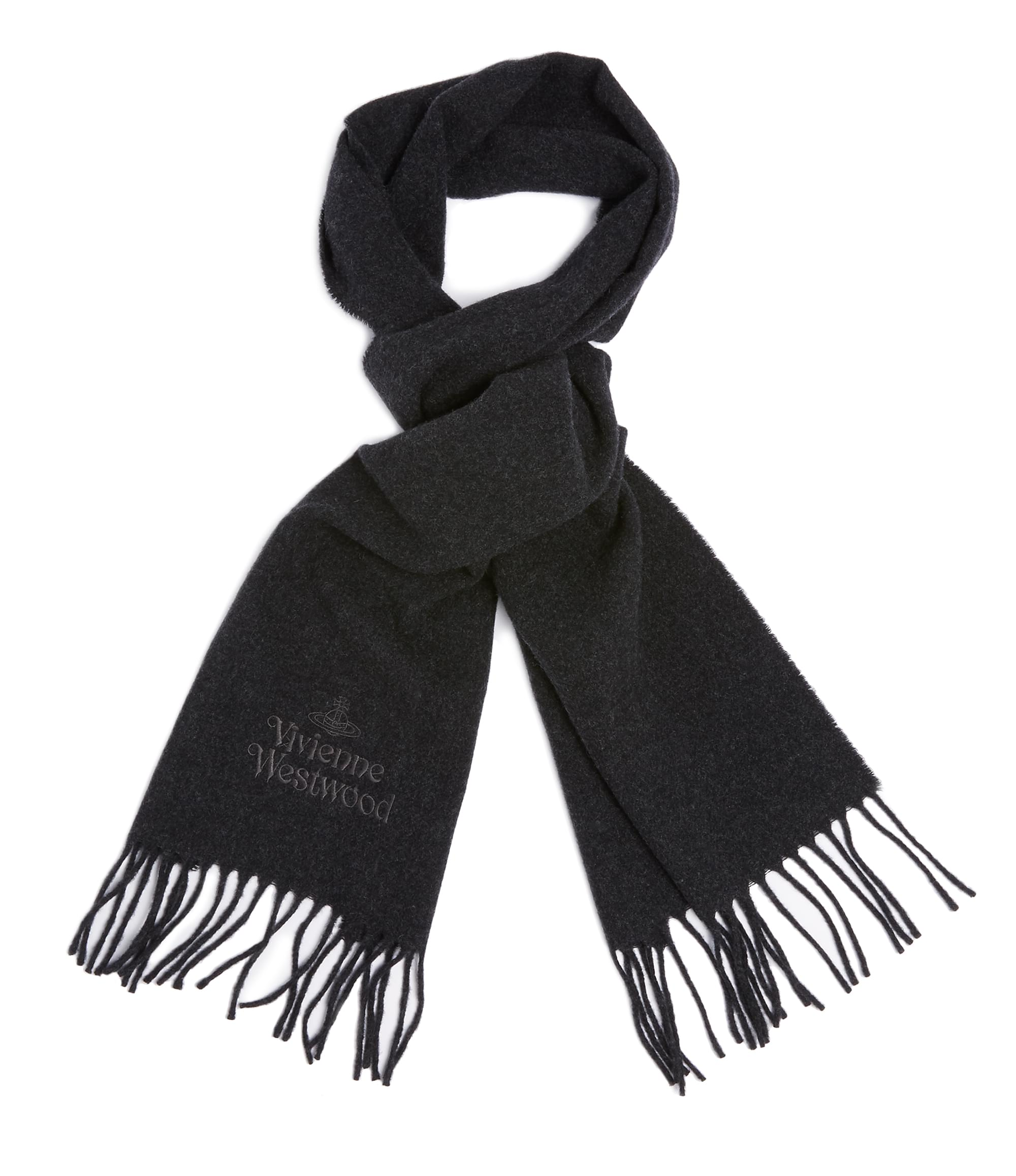 Vivienne Westwood Anthracite Classic Scarf