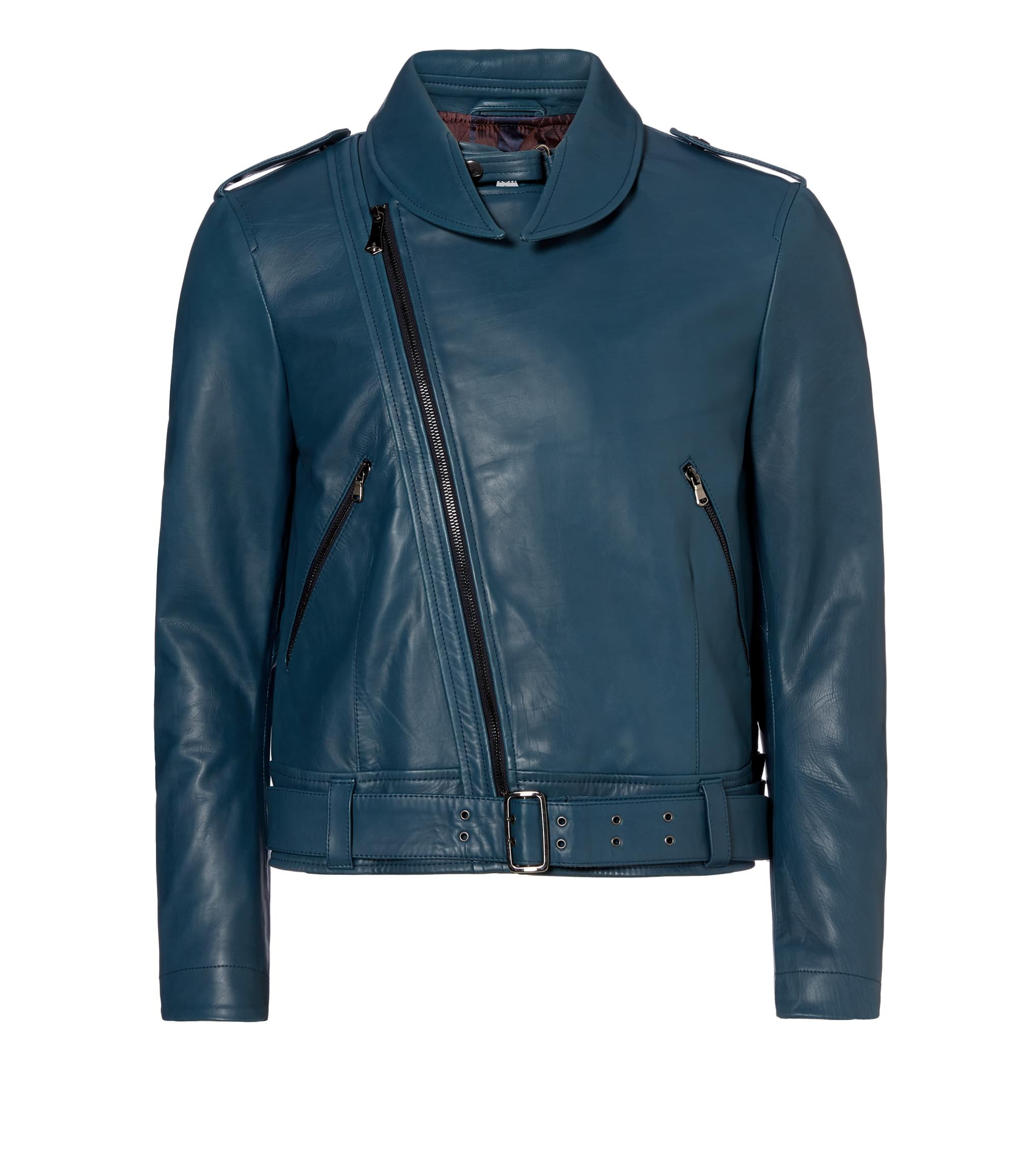 Vivienne Westwood Blue Portait Biker Jacket