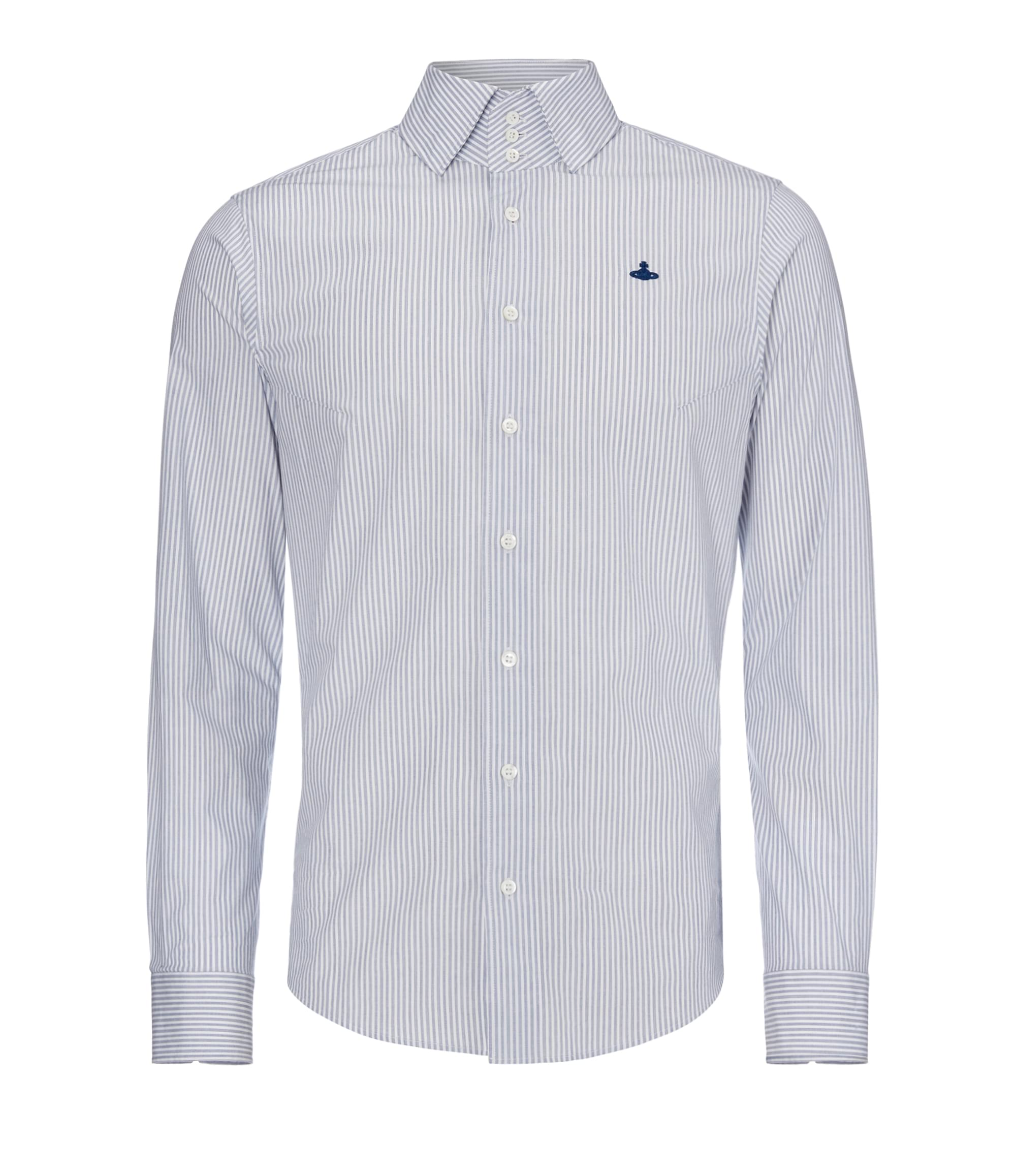 Vivienne Westwood Blue/White Stripe Krall Stretch Shirt