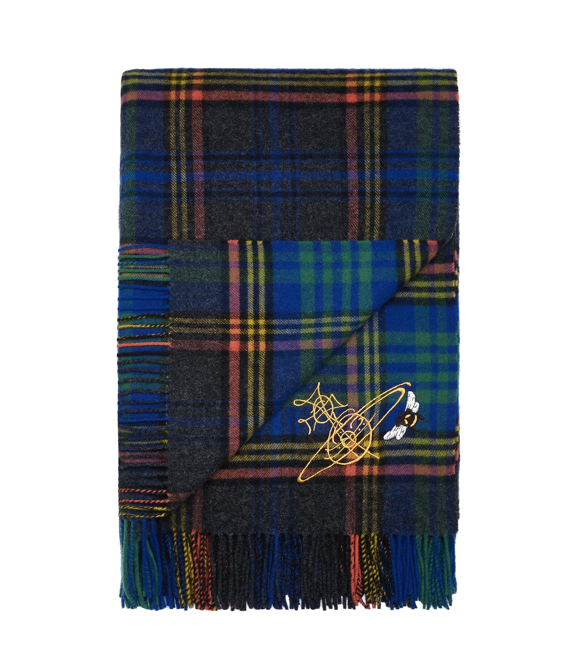Vivienne Westwood Johnstons of Elgin Blue Tartan Throw