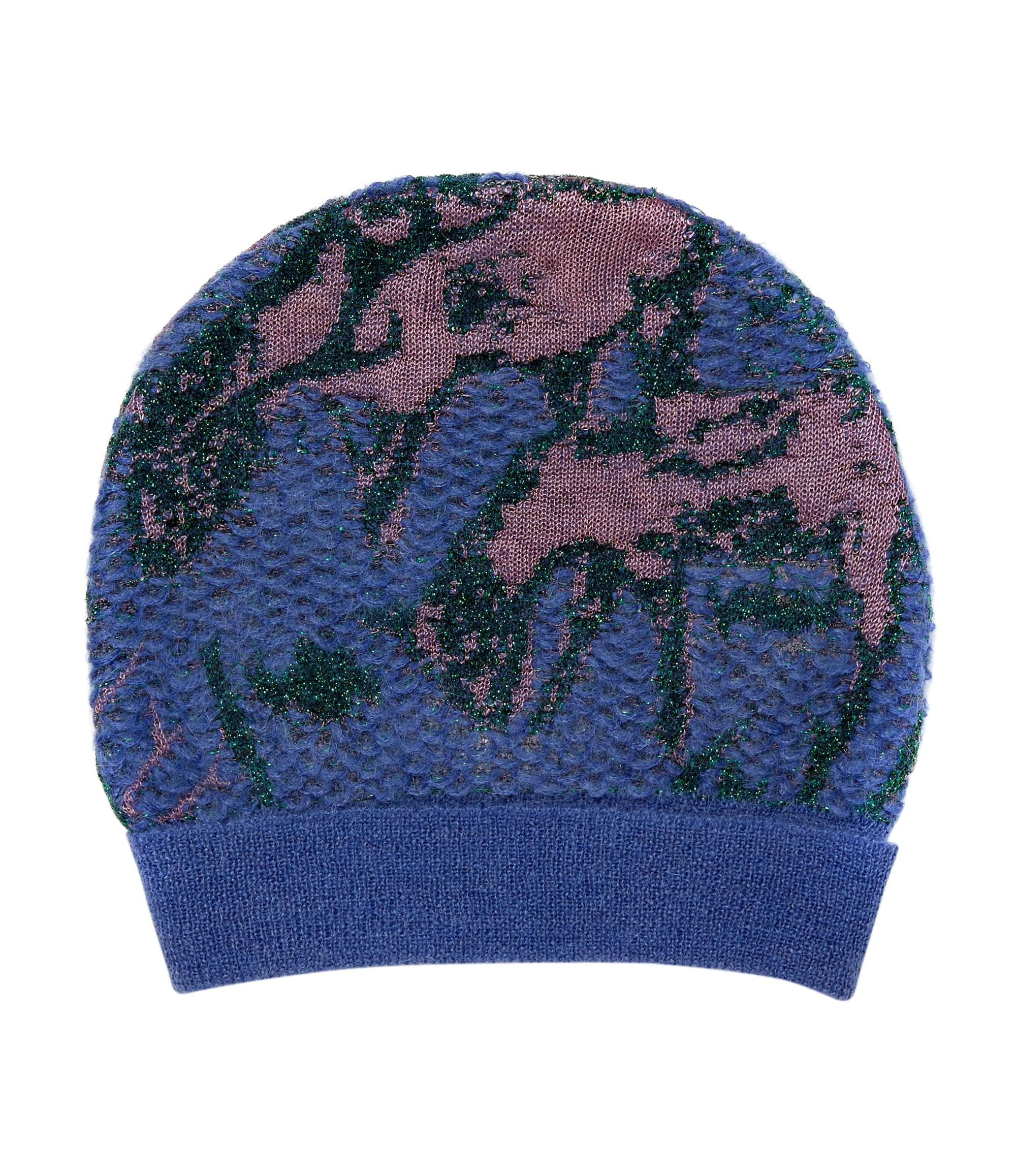 Vivienne Westwood Knitted Purple Deer Beanie