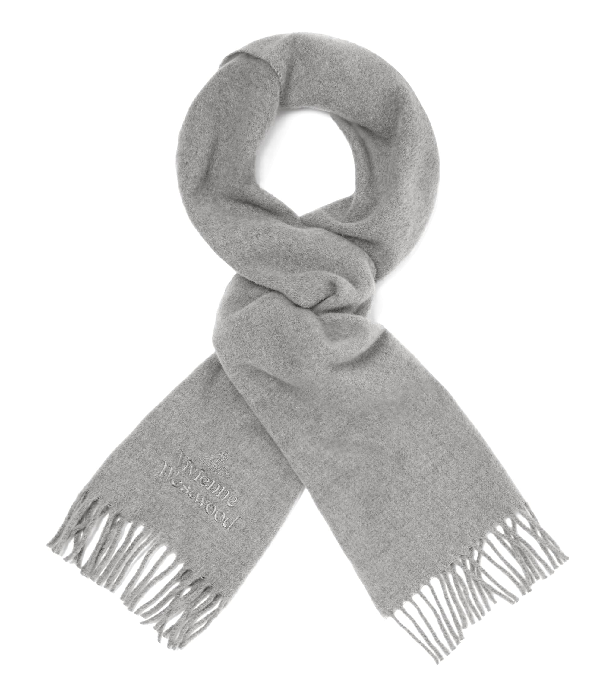 Vivienne Westwood Light Grey Classic Scarf