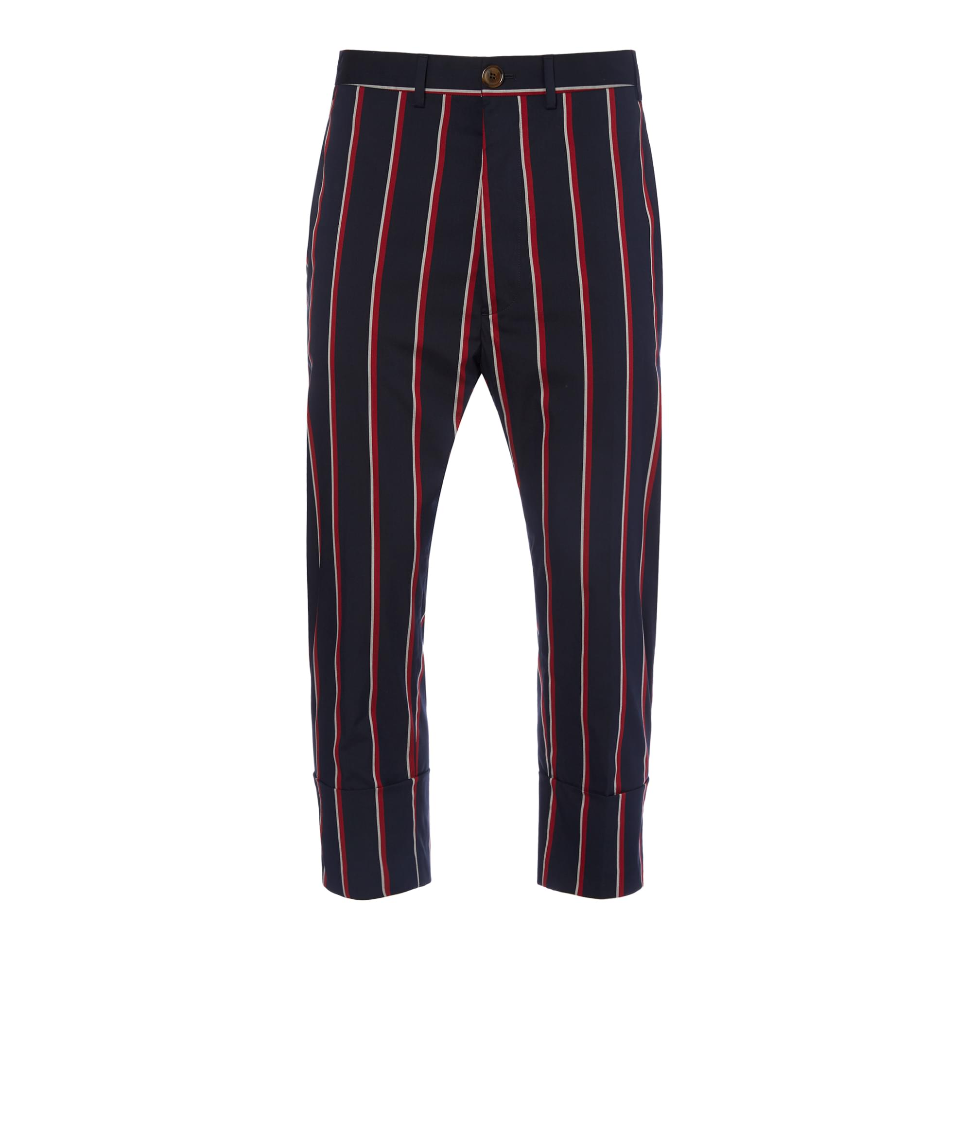 Vivienne Westwood Navy Stripe Cropped James Bond Trousers
