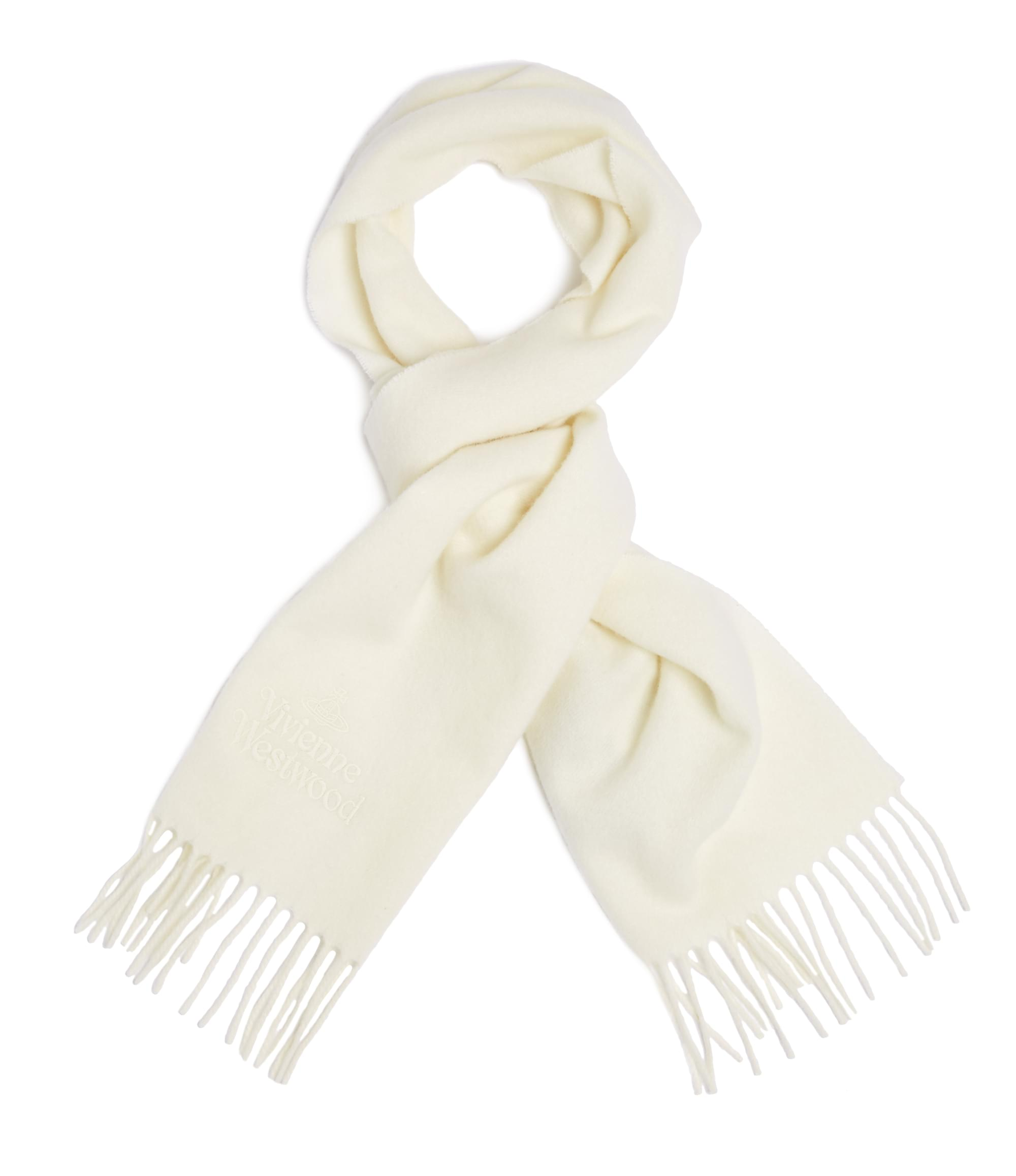 Vivienne Westwood Off White Classic Scarf