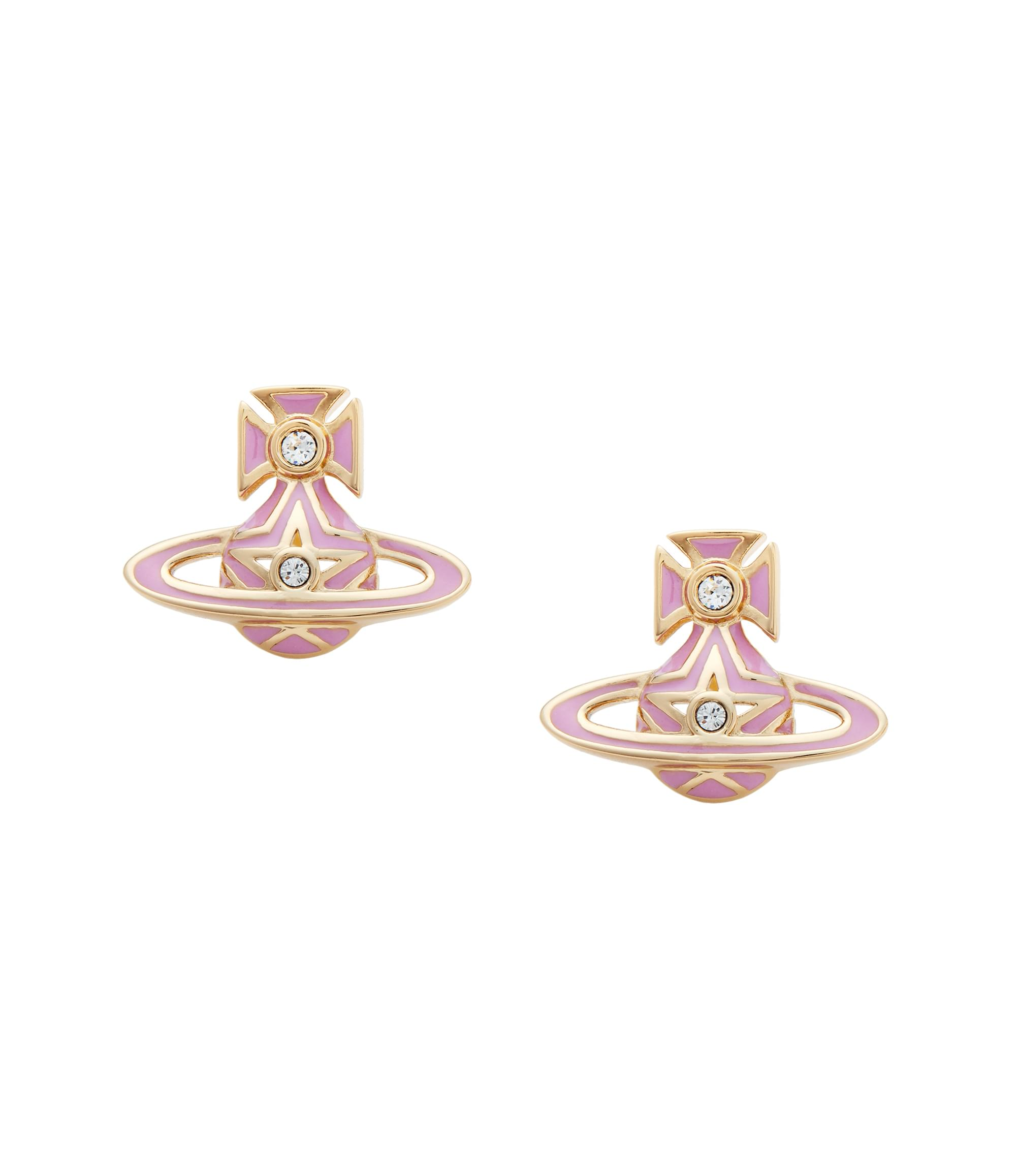 Vivienne Westwood Pink Brianna Bas Relief Earrings