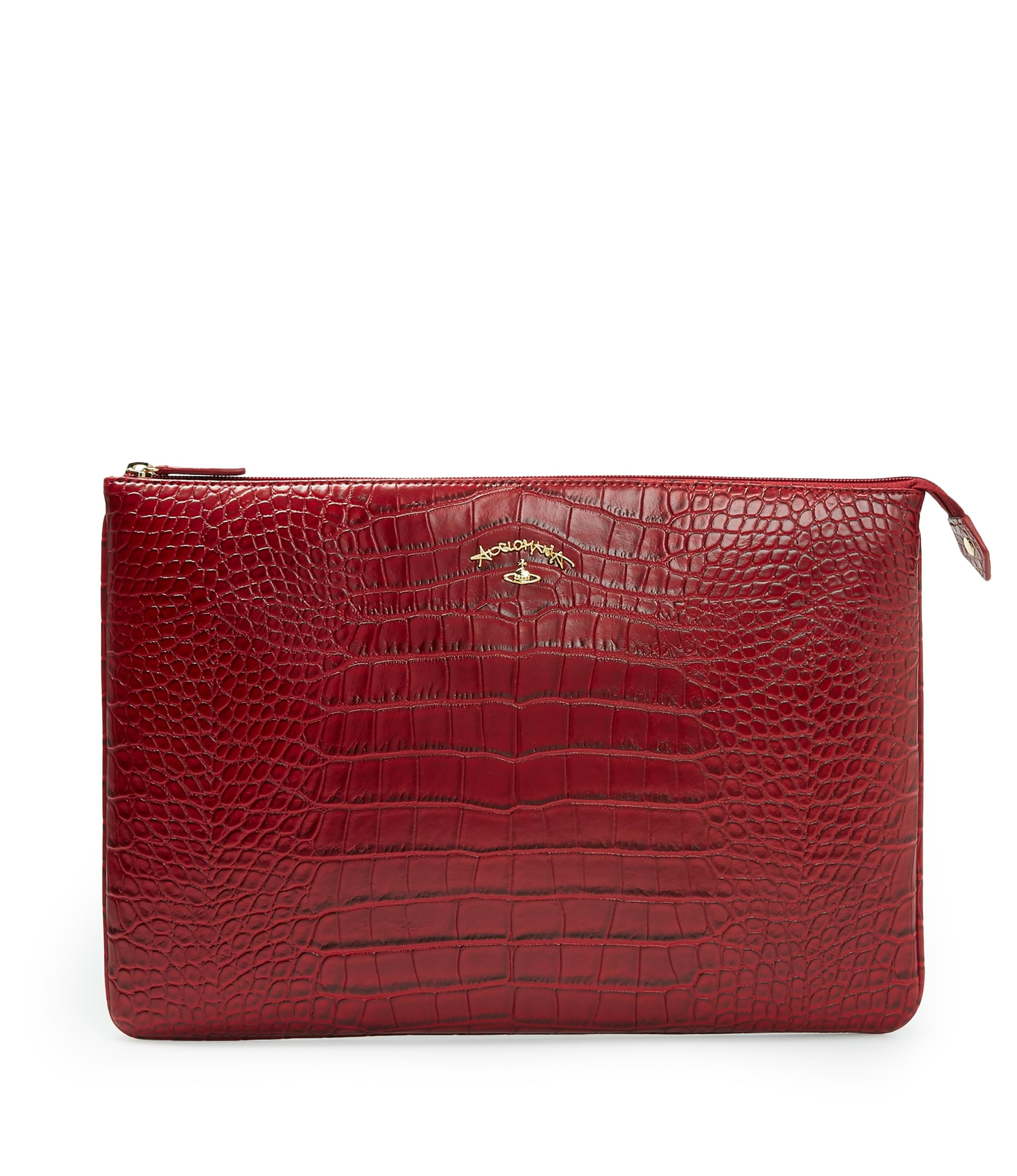Vivienne Westwood Red Dorset Clutch Bag 6852