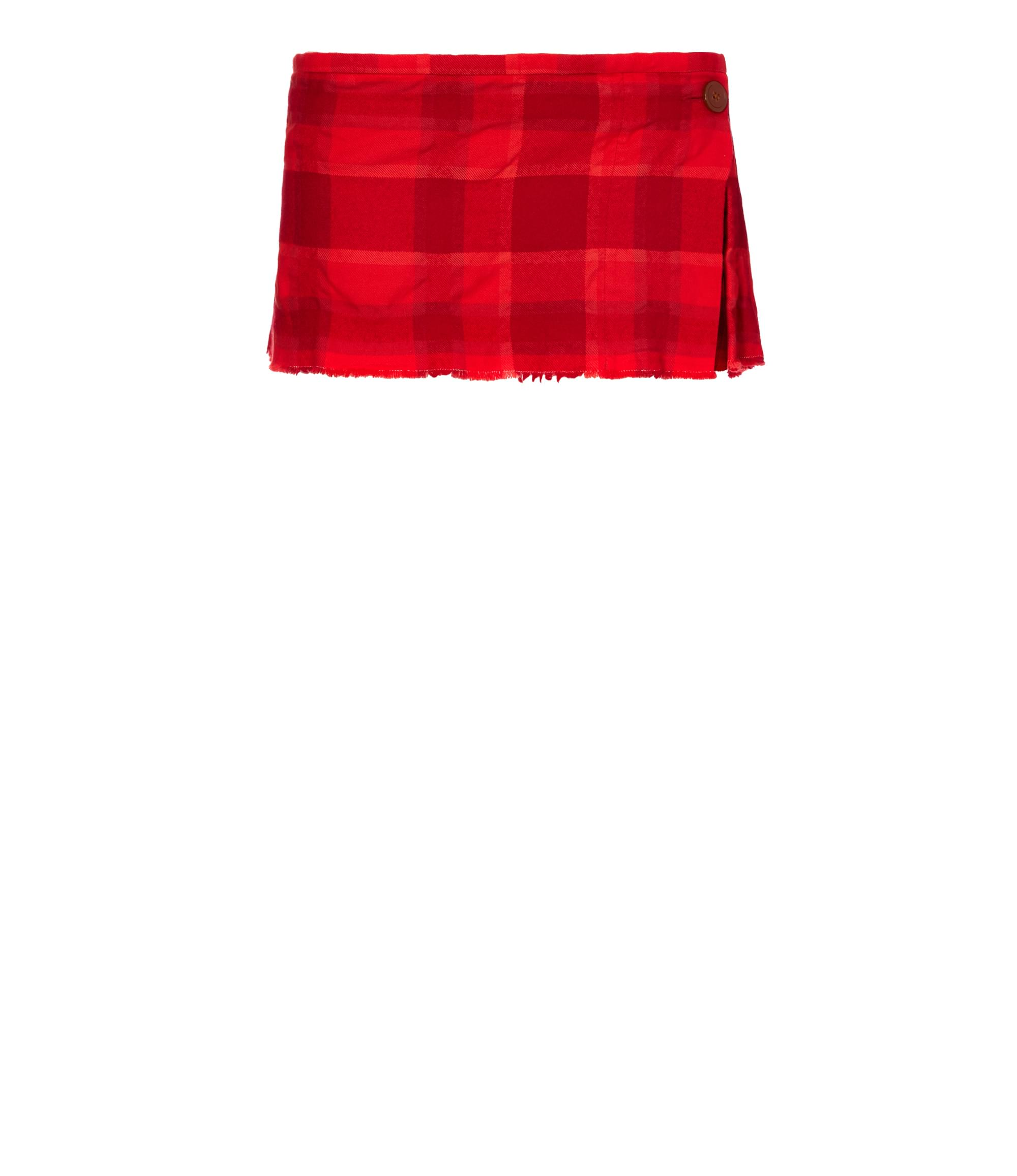 Vivienne Westwood Red Microcheck Kilt