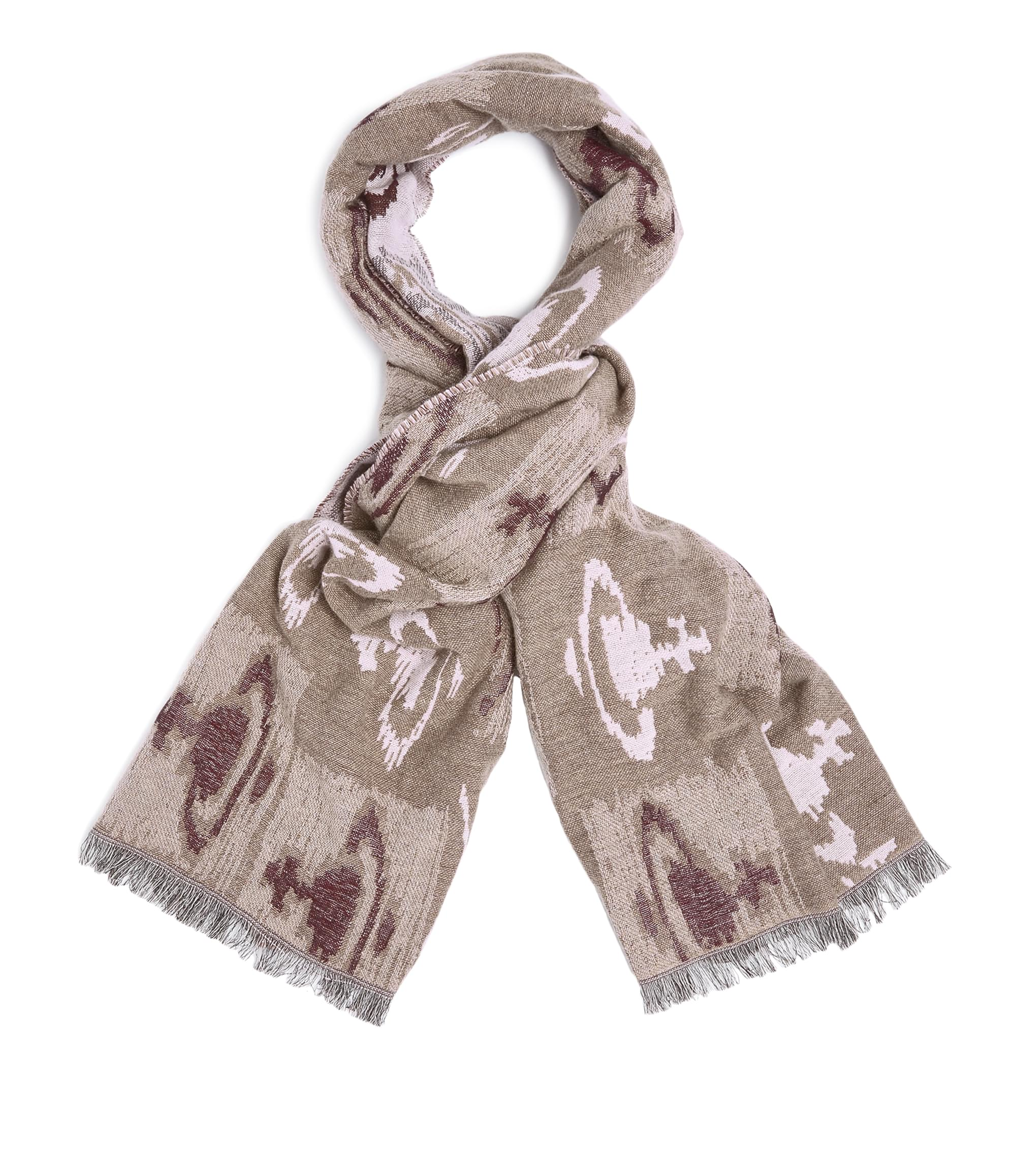Vivienne Westwood Taupe Jacquard Scarf
