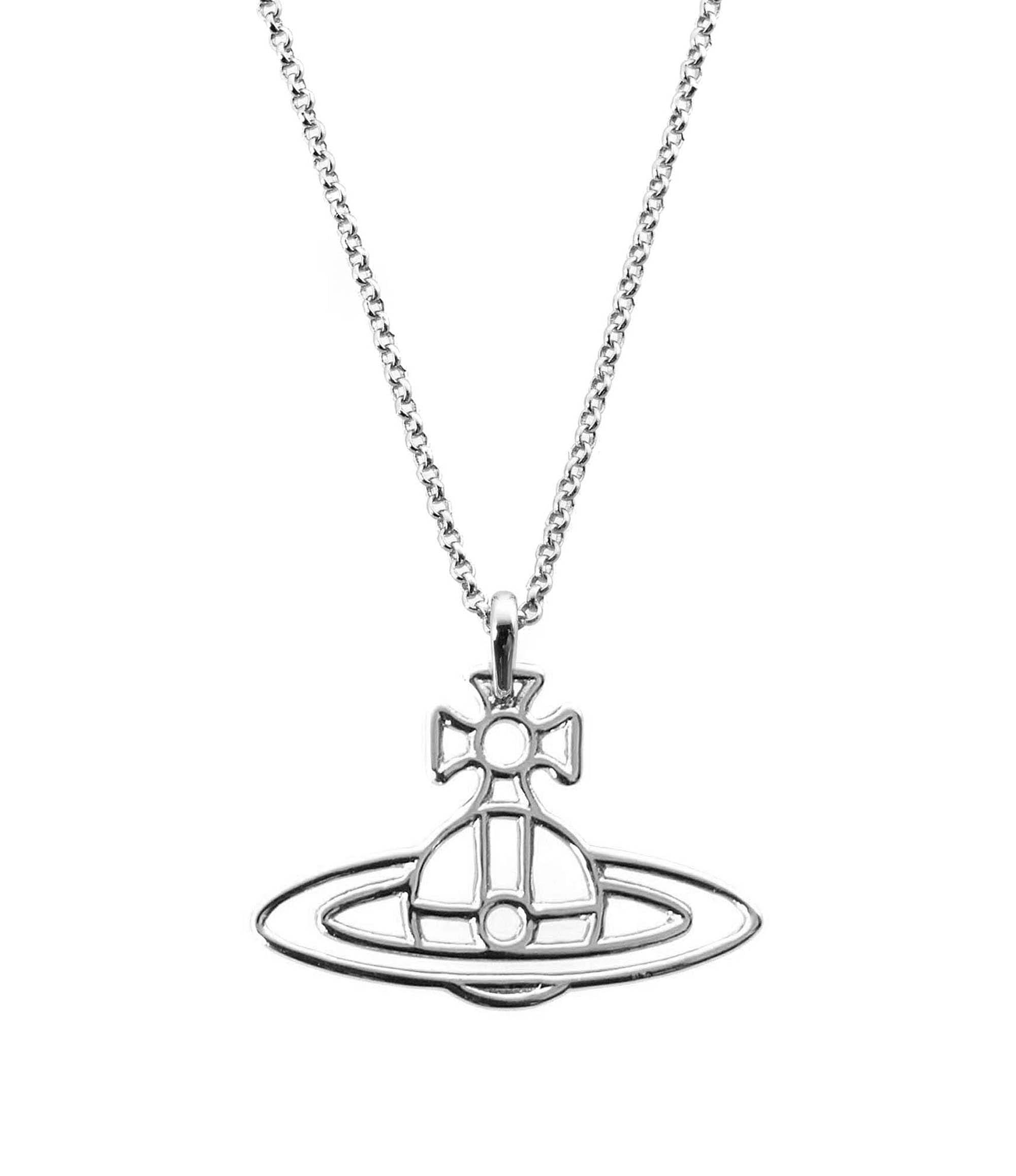 Vivienne Westwood Thin Lines Orb Pendant Silver