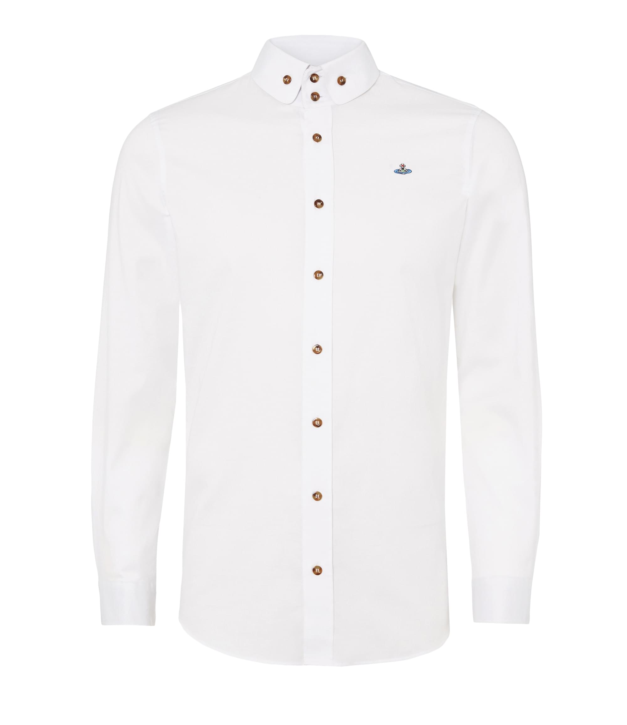 Vivienne Westwood White Two Button Krall Shirt
